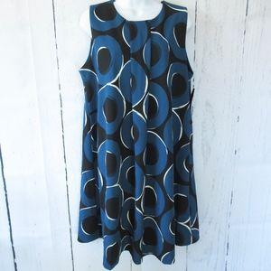 Alfani Dress Circle Print Shift Retro Mod New